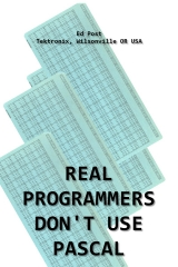 скачать книгу Real Programmers Don't Use PASCAL. автора Ed Post