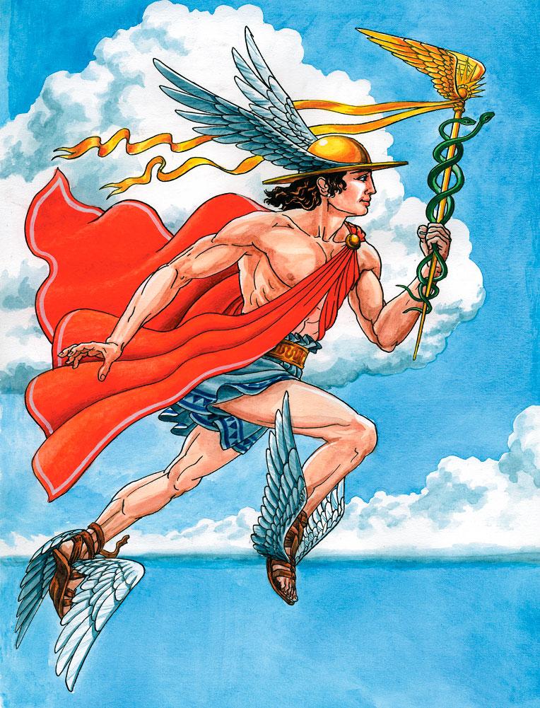 древнегреческий бог гермес картинки лишним предметом