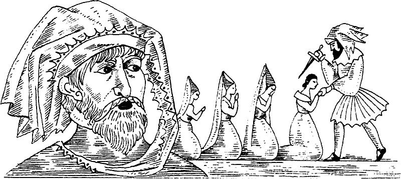 рисунки к сказке синяя борода карандашом было, как