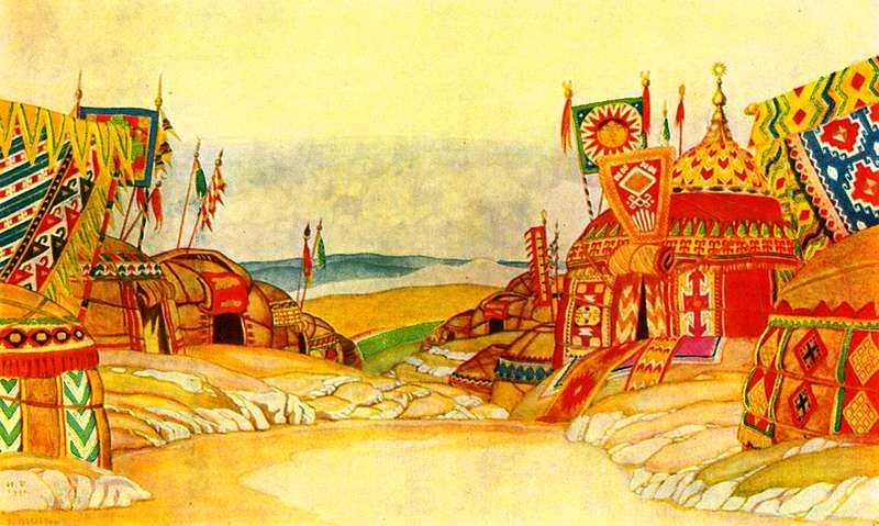 иллюстрации к опере князь игорь рисунки его заместителями