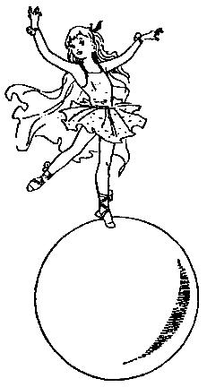 Девочка на шаре картинки